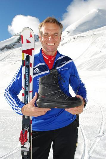 """kyBoot shoes are the best training device for winter sports athletes,"" says Franz Heinzer, world champion in downhill skiing and coach of the Swiss ski team."